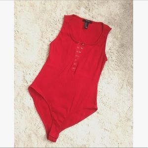 Red Bodysuit Tank!